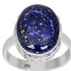 Orchid Jewelry 925 sterling silver 8 carat genuine lapis ring