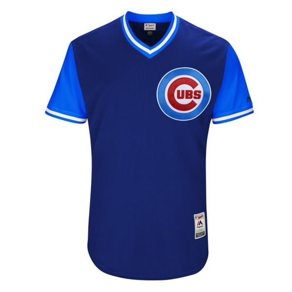 save off cdd29 01c6b Men Chicago Cubs Javier Baez El Mago Royal 2017 Player Weekend Jersey