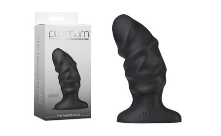 Platinum Premium Silicone The Raging Anal Plug Black 4.3 Inch 64edbf96-be7b-4d86-af49-c219db682b4d