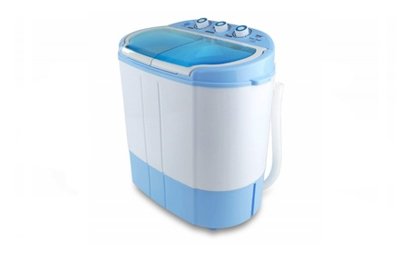 Pyle Portable Washer & Spin Dryer, Mini Washing Machine, Twin Tubs photo
