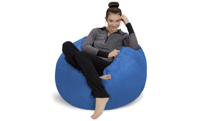 Pleasant Plush Ultra Soft Bean Bag Chair Memory Foam Bean Bag Chair With Microsuede Cover Dailytribune Chair Design For Home Dailytribuneorg