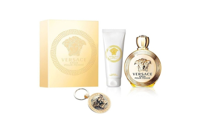 Versace Eros Pour Femme for Women 3 Piece Gift Set   Groupon 2c9d802a0f3