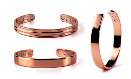 Pure Copper Arthritis Magnetic Therapy Bangle Cuff for Men Women