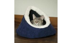 PETMAKER Feline Cat Comfort Cavern Pet Bed