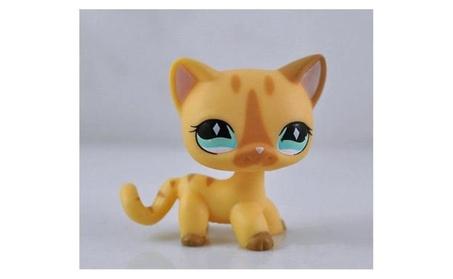 littlest pet shop Short Light brown Hair Cat kitty Animal figure cute b685a0ec-5ea1-40f8-8173-95c48c10dedf