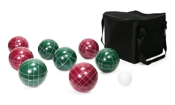 WYZworks Bocce Game Ball Set (9 Piece) with Carrying Case