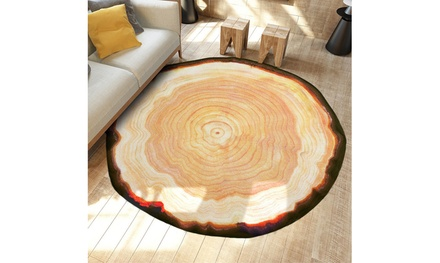 Anti-Skid Geode Rock Floor Rug Dining Living Room Bedroom Carpet Floor Mat