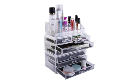 Makeup Rack Makeup and Jewelry Storage Case