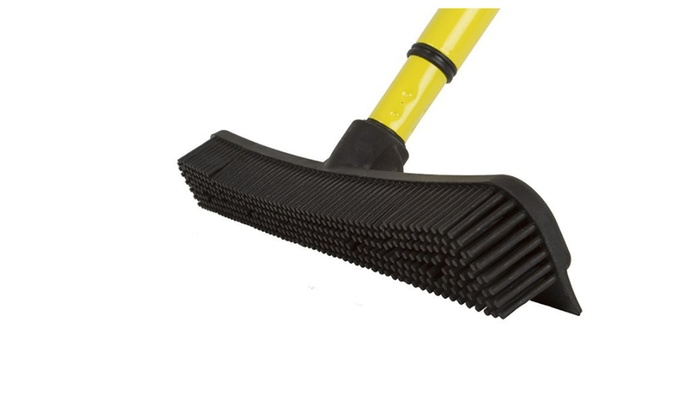 Furemover Broom With Squeegee Multi Surface And Pet Hair