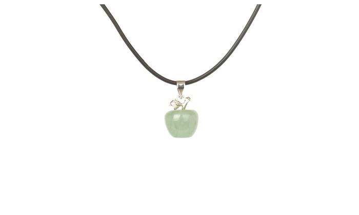 Matt hann dongling jade apple pendant necklaces set of 2 groupon matt hann dongling jade apple pendant necklaces set of 2 aloadofball Choice Image