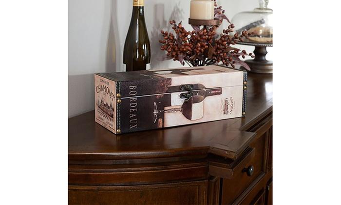 Household Essentials 9205 1 Decorative Horizontal Wine Caddy Gift