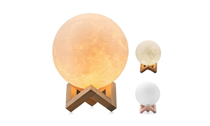 3D Magical Moon Lamp USB LED Night Light Moonlight Gift Touch Sensor