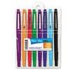 Paper Mate 89061 Point Guard Flair Porous Point Stick Pen Assorted Ink Medium 8