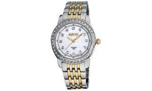 August Steiner Women's Diamond and Crystal Bracelet Watch ASGP8045TTG