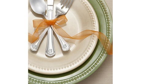 Excelsior Monogrammed Initial Flatware Set (46-Piece) photo