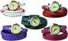 Retro Rivet Vegan Leather Wrap-Around Cuff Watch