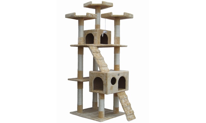 """GoPetClub 72"""" Cat Tree Condo Furniture"""
