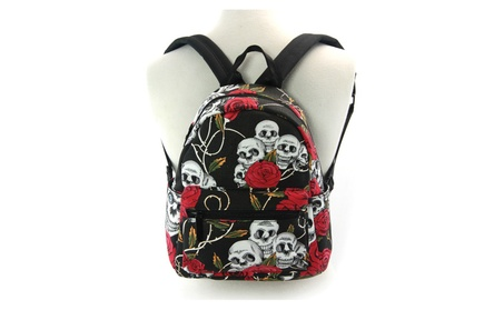 Sleepyville Critters Skulls and Roses Mini Backpack Purse (Goods Women's Fashion Accessories Handbags) photo