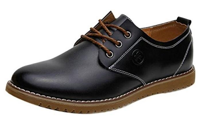 iLoveSIA Men's Lace Up Leather Oxfords Shoes