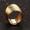 18K Gold Plated Stainless Steel Polycyclic Ring Stack Rings