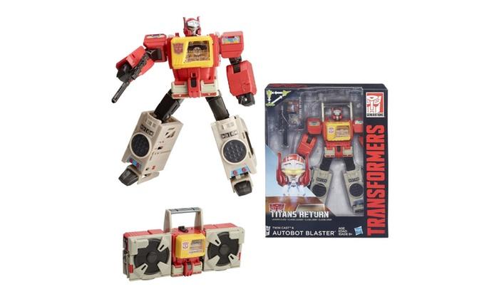 Transformers ~ TITANS RETURN LEADER CLASS BLASTER ACTON FIGURE ~ Hasbro