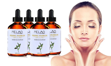 Pure Jojoba Oil for Skin and Dry Damaged Hair 4 PACK