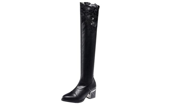 Women's/Ladies Cutwork Zip Fashion Boots Shoes
