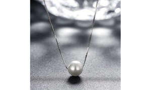 Freshwater Pearl Solid Sterling Silver Italian Necklace