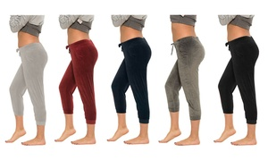 Coco Limon Women's Velour Capri Joggers (1- or 5-Pack)