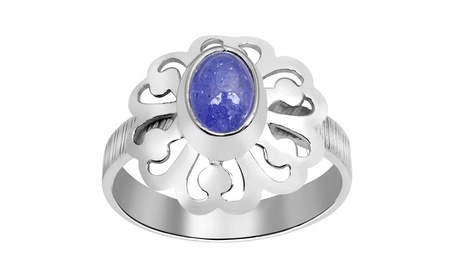 Orchid Jewelry 925 Sterling Silver 2-1/4 Carat Tanzanite Flower Ring - 7 0a916155-7dcd-4a31-8332-ecd18bc880e6