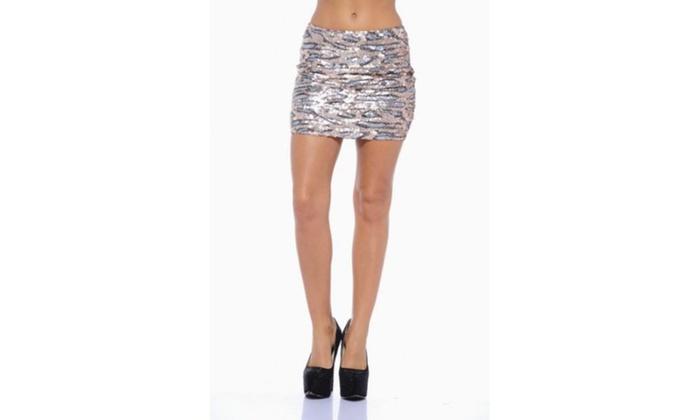 AX Paris Animal Sequin Skirt