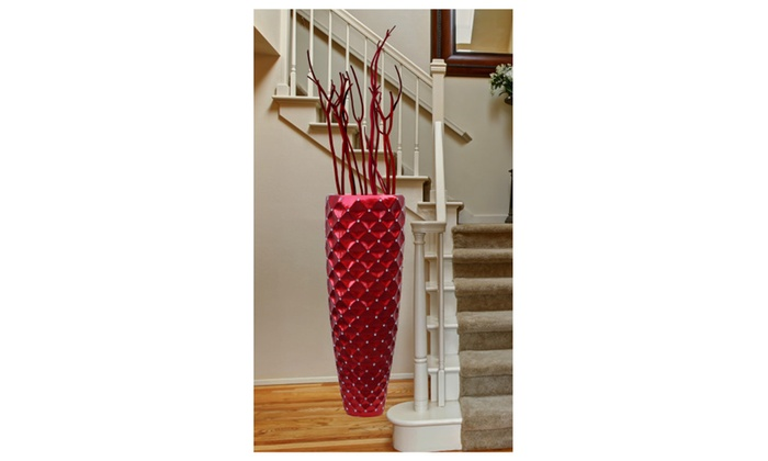 Modern Red Tall Floor Vase 44 Inch Groupon