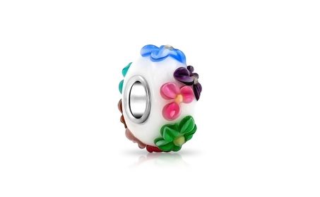 Bling Jewelry Multicolor Flower Bead 925 Silver Murano Glass 5ae4bb1d-6505-42e7-9384-af4cd9b50c24