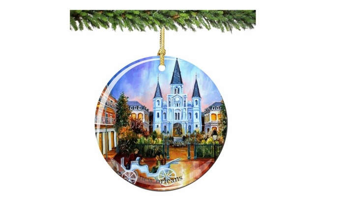 New Orleans Christmas Ornaments.New Orleans Christmas Ornament Porcelain French Quarter Ornaments