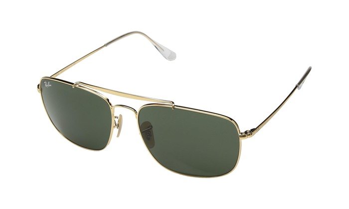 3ee8a216a99f Ray Ban 3560 The Colonel Gold w Green Crystal (G-15) Lens RB3560-001 ...