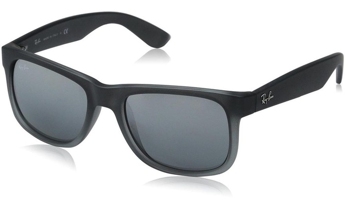 ... Ray-Ban JUSTIN CLASSIC Silver Gradient Mirror Unisex Sunglasses RB4165- 852/88-