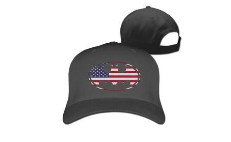 Batman- U.S. Flag Icon Baseball Cap Hats Black 5d16f872-ebe1-4da5-847c-016a3974ce32