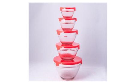 5 Pc Glass Bowl Set e855f9c9-64b2-4ae7-94af-a8ff5206a395