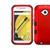 Insten Tuff Hard Hybrid Case For Motorola Moto E2nd Gen 2015 Red/black