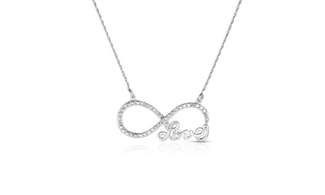 1/10 Cttw Diamond Love Infinity Pendant in Sterling Silver 5aedb693-7f2f-459d-a033-c33501866712