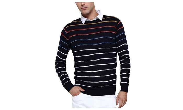 Men's Casual Pullover Simple Long Sleeve Casual Pullovers