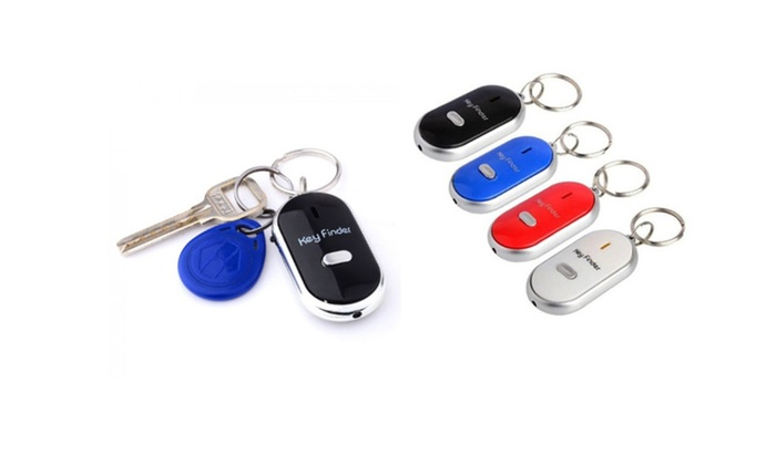 Whistle Beep Key Finder with LED Light 2 Pack