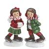 Pair of Festive Skating Figurines Christmas Figure