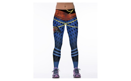 Women's Superman Fashion Designed Sports Elasticity Tight Fitness Pant 8aeb239e-5cbe-4d1c-a6e1-021fe257fe41