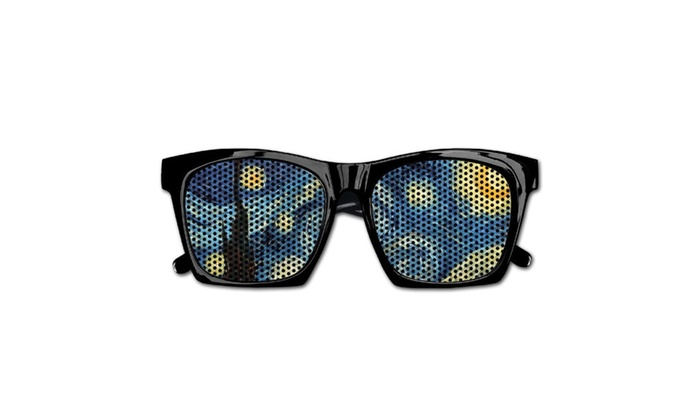 121a4b862c4a Unisex Starry Night Van Gogh Visual Mesh Sunglasses For Party Favors ...