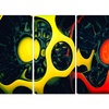 Orange and Yellow GeoArt - Modern Wall Art - 48x28 - 4 Panel