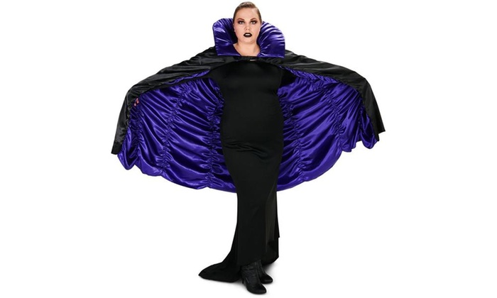 Purple and Black Reversible Cape Adult Plus