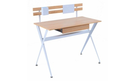 Wood Top Computer Desk Writing Laptop Table Workstation Home Office Furniture