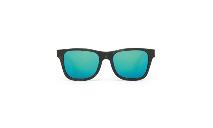 Alpine Polarized Wayfarer Bamboo Sunglasses